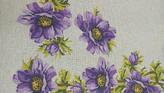 Καρέ Μωβ Λουλούδια GobelinL