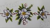 Τραβέρσα Λευκά Λουλούδια Regina