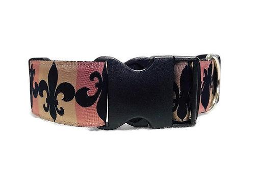 """Fleur De Lis"" | 1 1/2"" Wide Dog Collar | Martingale Style Availab"