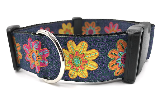 """Billy Jean"" 1 1/2"" Wide Dog Collar  Martingale or Buckle Dog Collar"