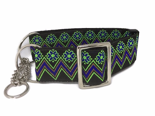 """""""Flower Power"""" 2"""" wide  Regular Buckle or Half Check Martingale Dog Coll"""