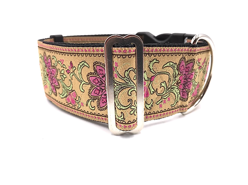 """""""Victorian Pink"""" 2"""" Wide Regular Buckle or Half Check Martingale"""
