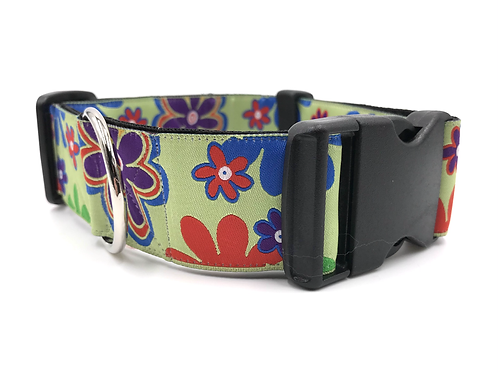 """""""Love Child"""" 1 1/2"""" Wide Dog Collar  Martingale or Buckle Dog Collar"""