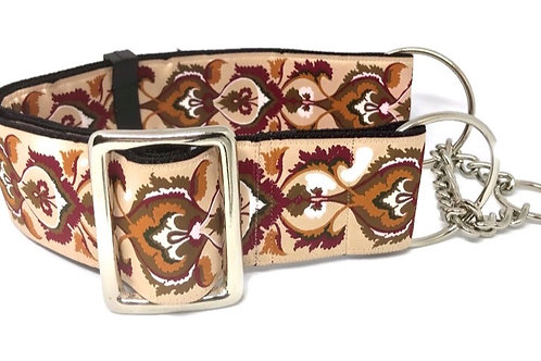 """Shades of Suede"" 2""  Regular Buckle or Half Check Martingale Dog Collar"