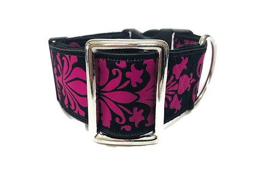 """Camelot"" in Pink 2"" Wide Regular Buckle or Half Check Martingale"