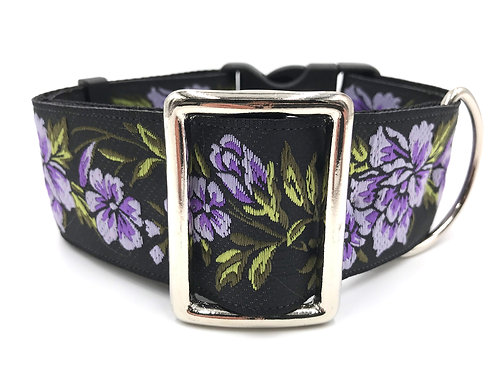 """""""Lilacs"""" 2"""" Wide Regular Buckle or Half Check Martingale"""