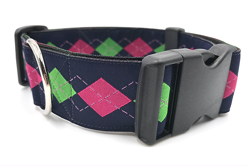 """""""Preppy"""" 1 1/2"""" Wide Dog Collar  Martingale or Buckle Dog Collar"""