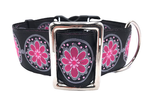 """Rhapsody in Pink"" 2"" Wide Regular Buckle or Half Check Martingale"