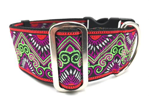 """""""Carnival"""" 2"""" Wide Regular Buckle or Half Check Martingale"""