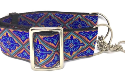 """Royal Court"" 2""  Regular Buckle or Half Check Martingale Dog Collar"