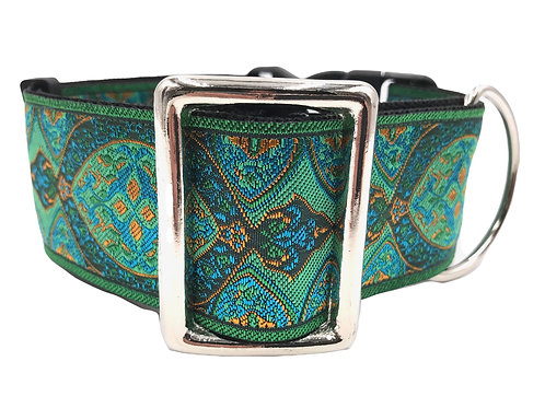"""Emerald"" 2"" Wide Regular Buckle or Half Check Martingale"