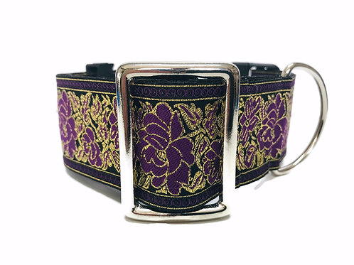 """Passion Flower""  2"" Wide Regular Buckle or Half Check Martingale"