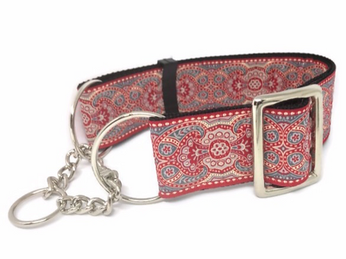 """Citadel""  2"" wide Regular Buckle or Half Check Martingale Dog Coll"
