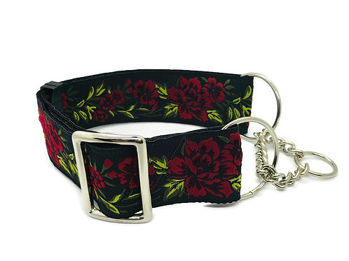 """Rose Garden"" | 2"" Regular Buckle or Half Choke Martingale Collar"