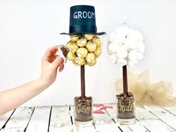 Bride and Groom Chocolate Tree