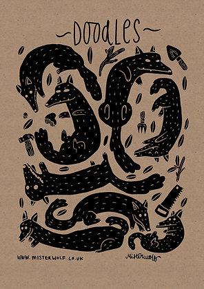A6 Mister Wolf Doodlebook