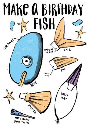 Make A Birthday Fish - Funny Craft Card