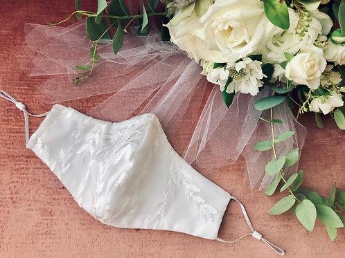 CassB Bridal Mask - White Vine