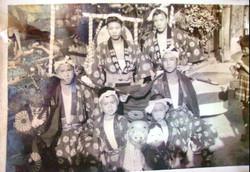 御崎の獅子連の子どもの時の写真