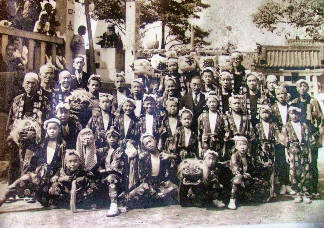 御崎獅子連の古い写真 平成28年7月21日追加
