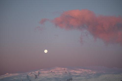 Icelandic Moon Rise Print