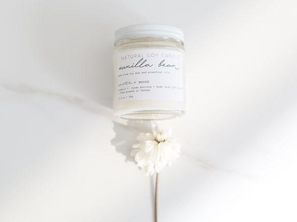 Organic Vanilla Bean Candle Earth and Moon Organics