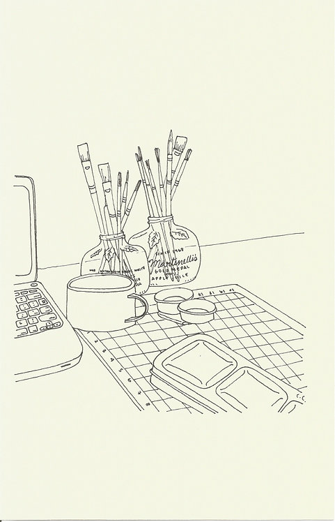ESCRITORIO dibujado con estilógrafo Micron 02