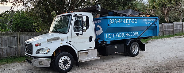 Let it go junk removal and dumpster rental for volusia county Florida