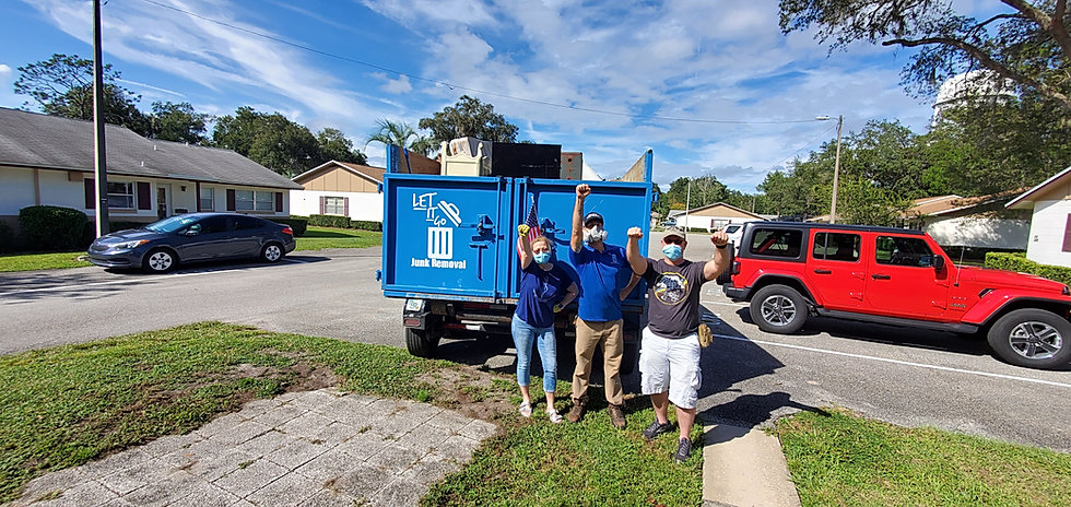 customers love let it go junk removal, serving volusia county florida