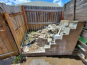 Let it go junk removal, poof junk be gone orange county florida, concrete removal
