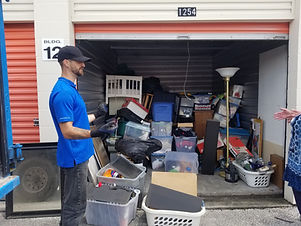 Storage unit junk removal clean out in daytona beach Florida
