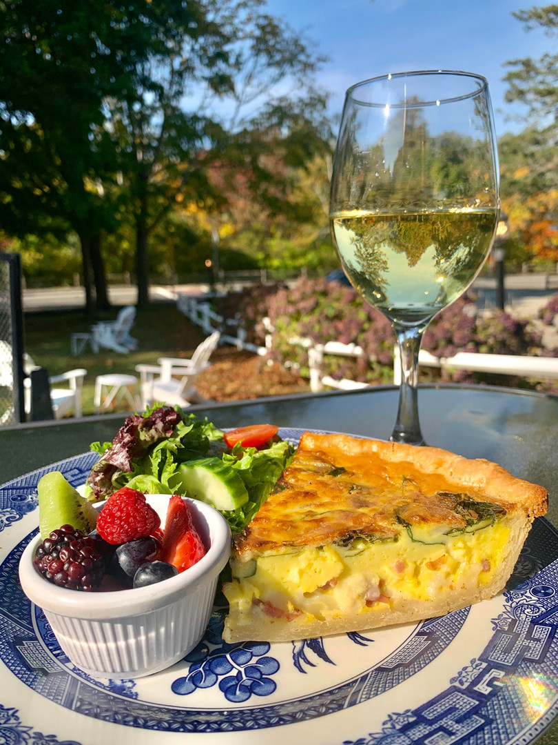 Quiche & Wine On The Patio