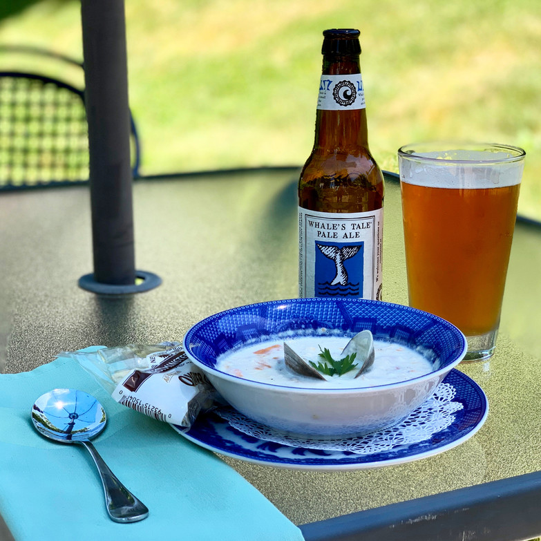 New England Clam Chowder & Whales Tale Pale Ale