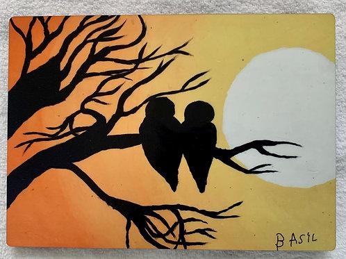 Basil's Artwork - wood panel