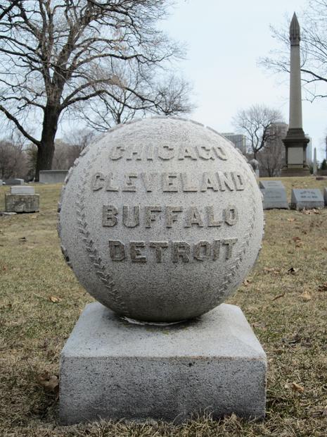 William Hulbert grave, Graceland Cemetery, Chicago