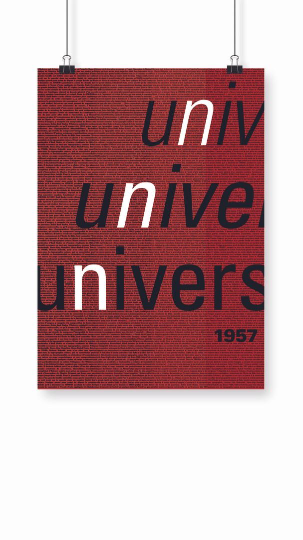 Affiche Univers 1957