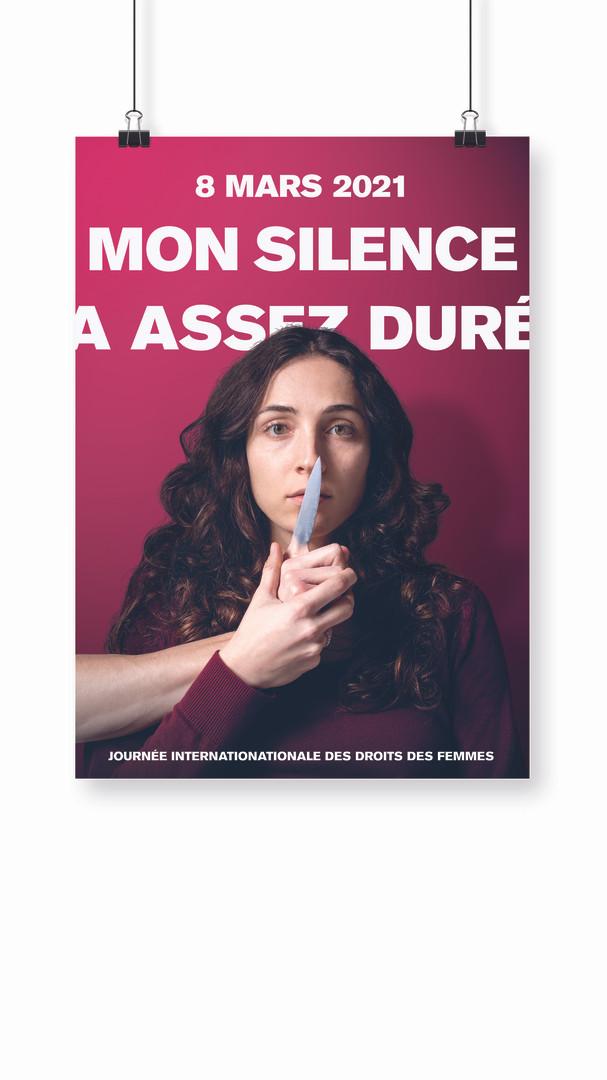 Affiche Journée internationale desdroits des femmes