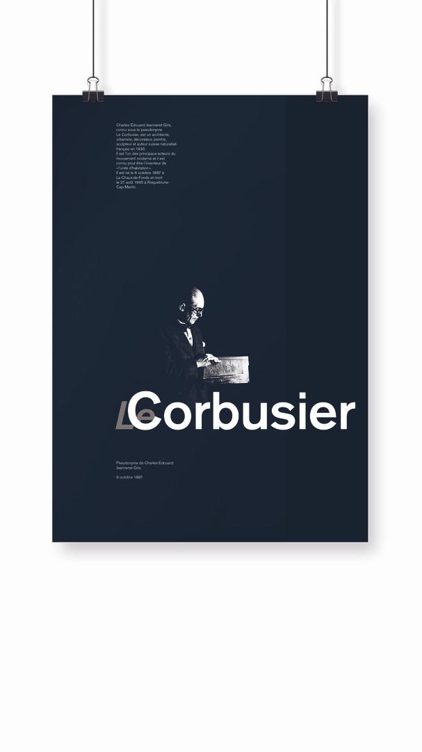 Affiche Le Corbusier