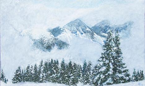 Paesaggio invernale a Disentis