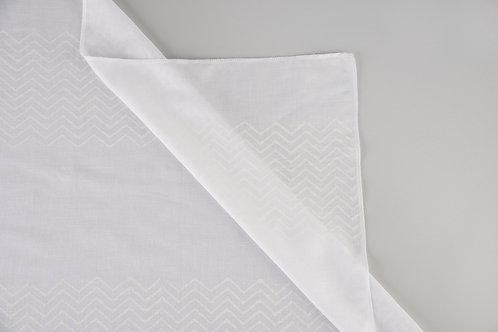 White Chevron Stripe Sheers