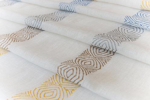 Silver Laguna Stripe Textile