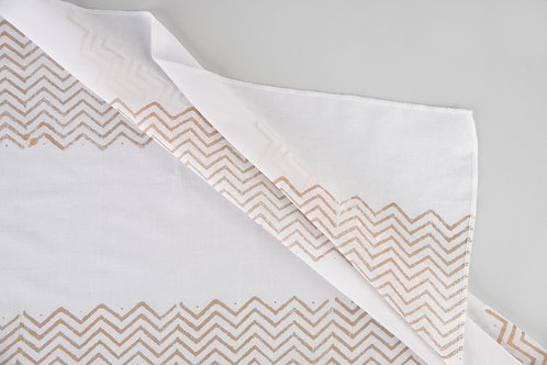 Gold Chevron Stripe Sheers