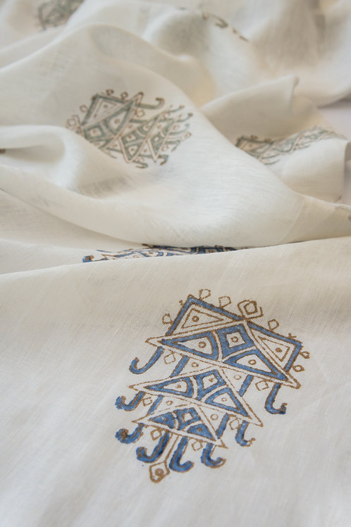 Gossamer Blue Kamon Double Textile