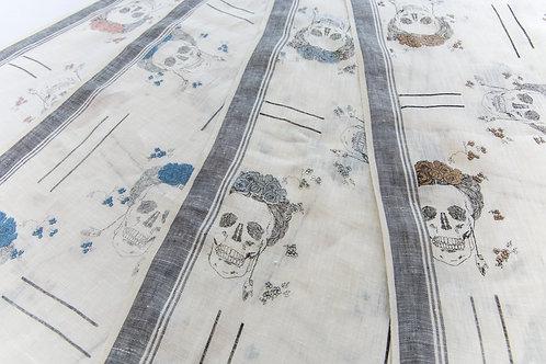 Silver Kali Maze Textile