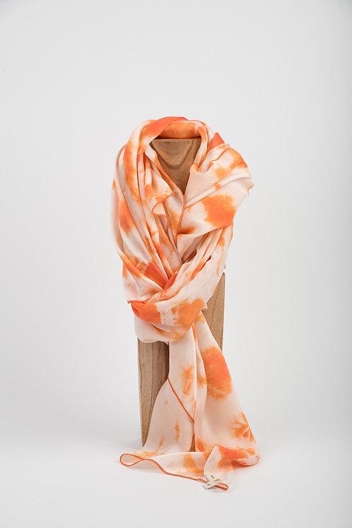 Orange Mud Silk Scarf