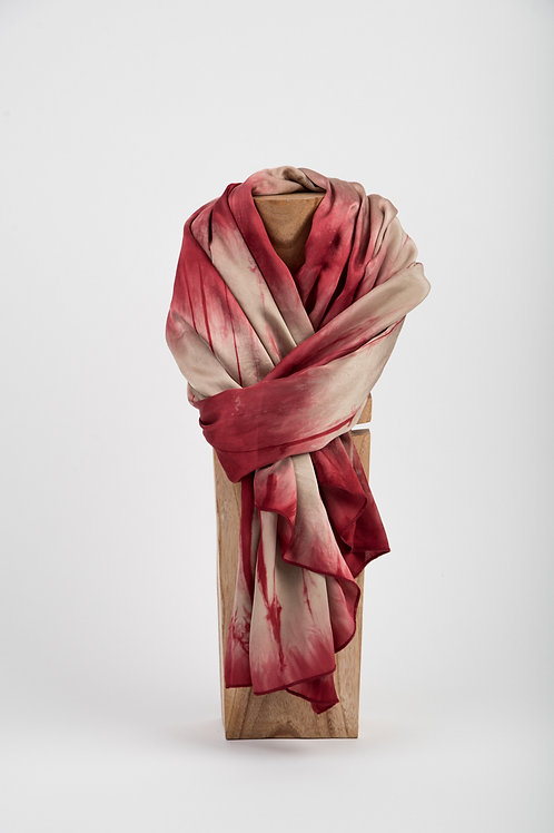 Red Melting Bamboo Scarf