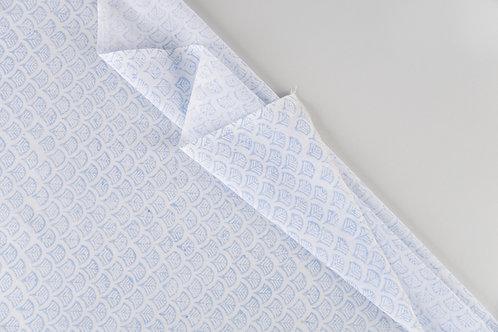 Blue Palmette Sheers