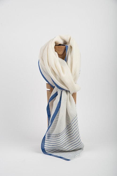 Blue Moonlight Palm Wool Scarf