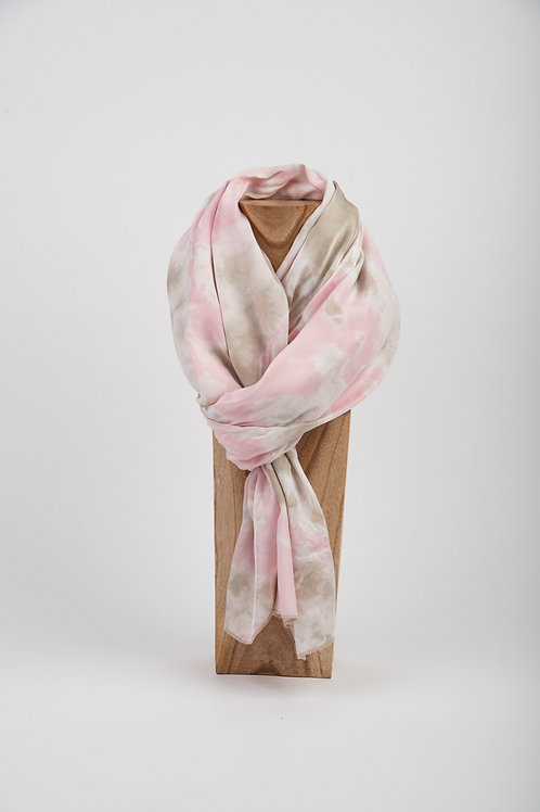 Pink Mud Silk Scarf