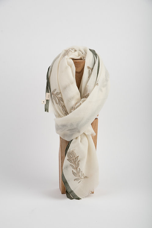 French Beige Avila Wool Scarf